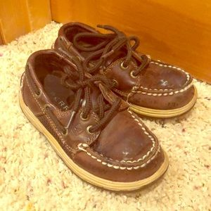 Leather Sperrys! Used but still have life!